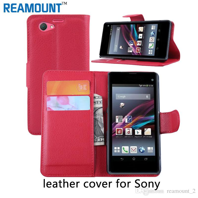 3864c385b756a Wholesale Capa Funda Cover For Sony Xperia Z5 Compact Leather Bag Leather  Case For Sony Xperia Z5 Z4 Z3 Z2 Cool Phone Cases Customize Phone Cases  From ...