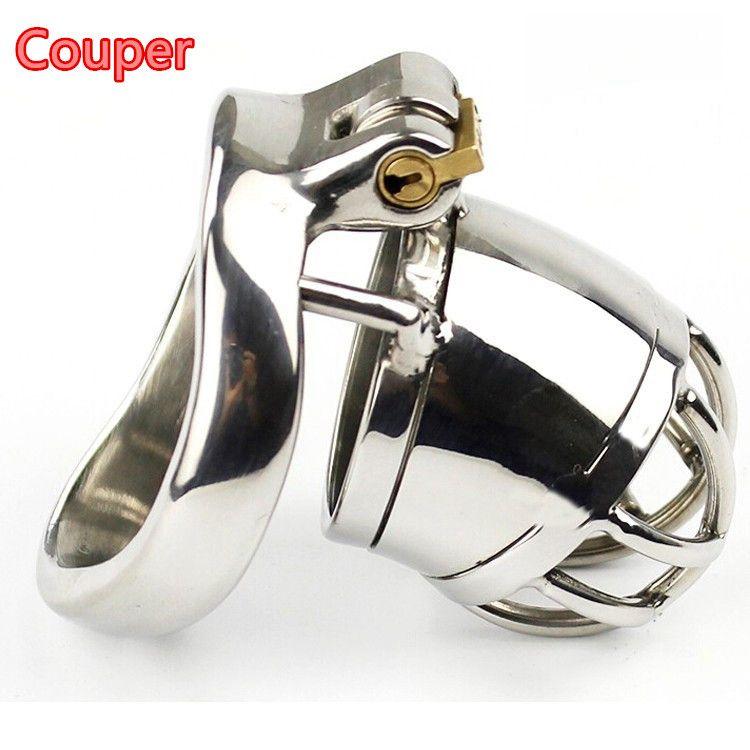 Купер, стелс замок из нержавеющей стали мужской целомудрие устройство, петух клетка, замок девственности, пенис замок, петух кольцо, Пояс Целомудрия CPA271