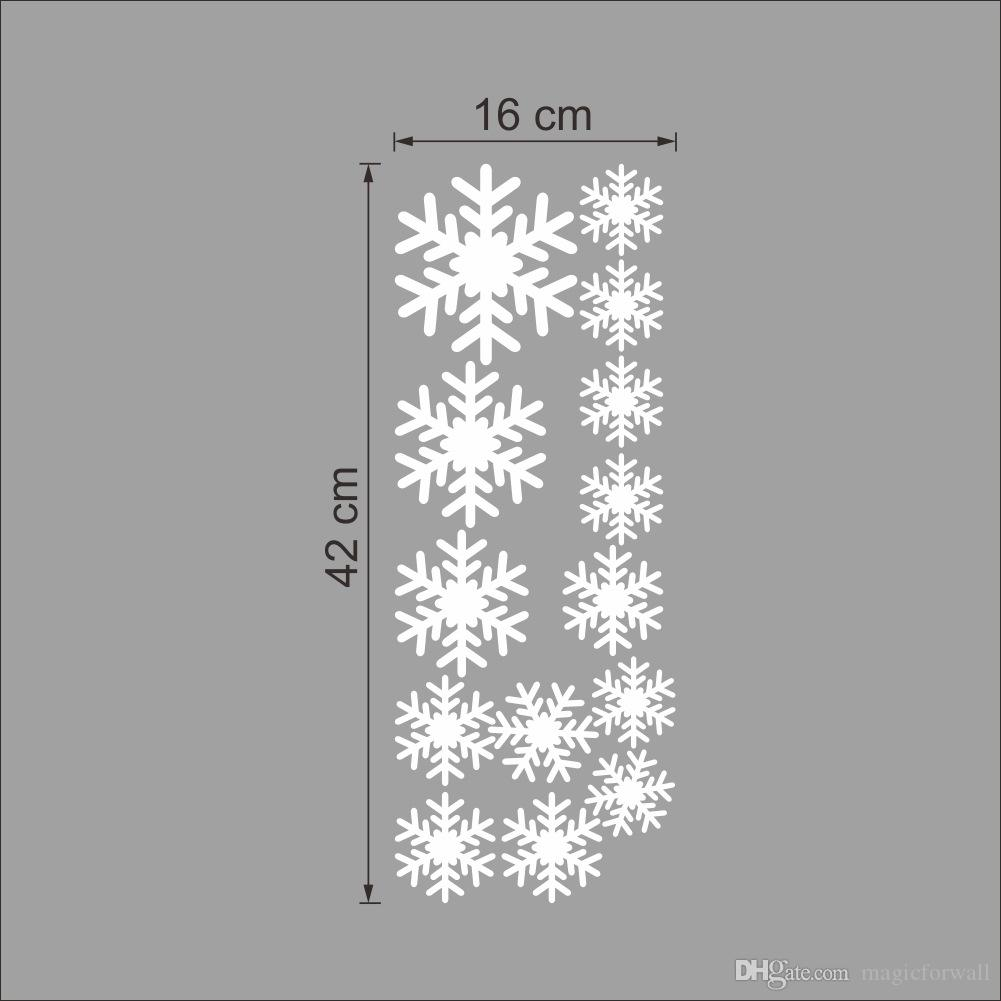 Snowflakes Window Glass Decoration Decal Wall Stickers Christmas Decor Wallpaper Poster Store Holiday Hanging Art Mural Graphic
