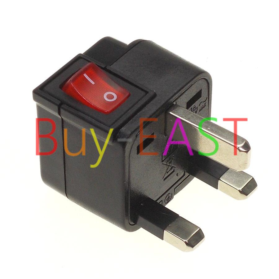 Uk Malaysia Hk Singapore Electrical Plug Adapter W/ Led Main Switch ...