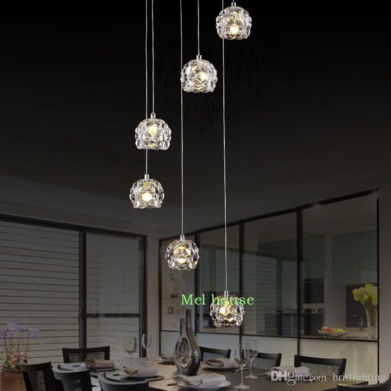 led pendant warehouse style light fixture modern villa duplex stairs
