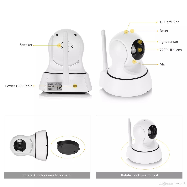 nuovo arrivo spedizione gratuita SANNCE Home Security Wireless Mini IP Camera Telecamera di sorveglianza Wifi 720P Night Vision CCTV Camera Baby Monitor