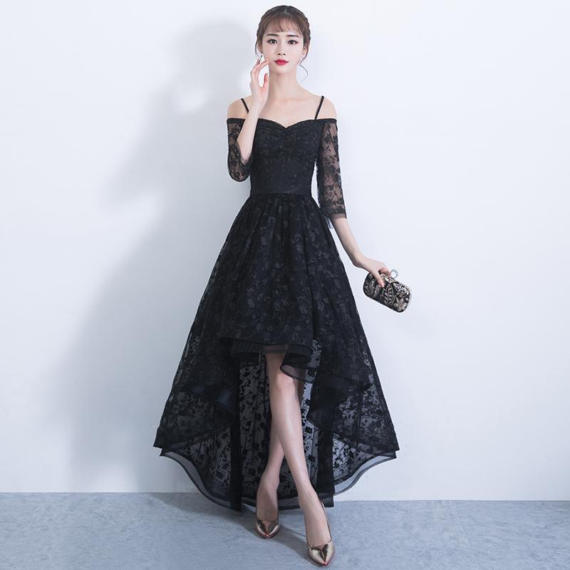Black Boat Neck Cocktail Dresses