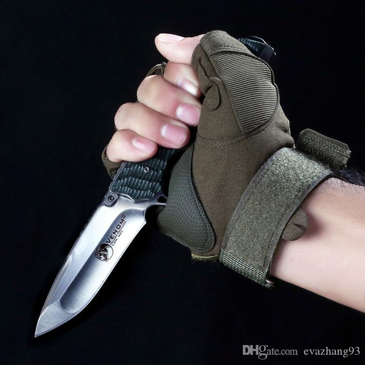 Di alta qualità! Tattico pieghevole coltello a sfere Flipper Coltello 59HRC D2 lama G10 maniglia Tattica di Sopravvivenza Coltelli pieghevoli EDC strumento
