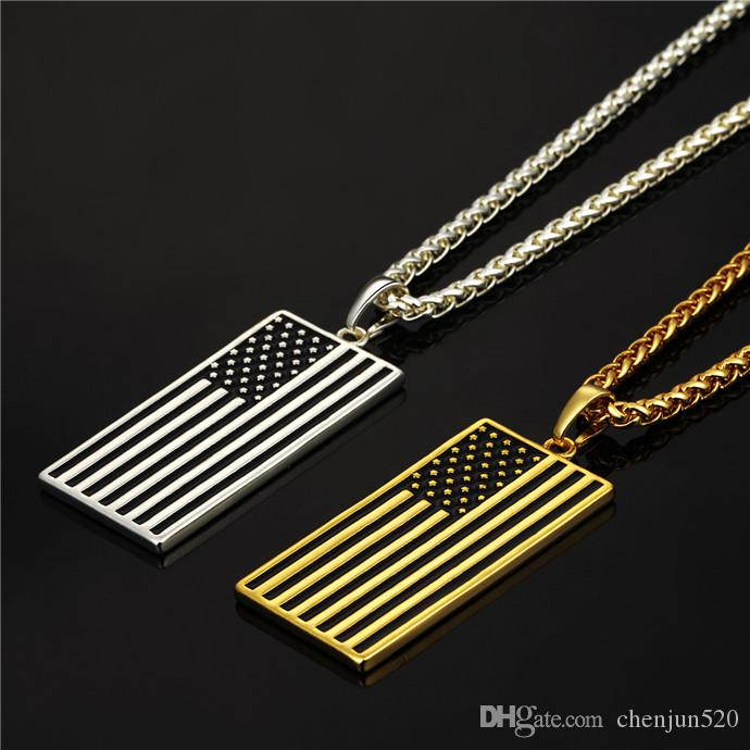 Wholesale american flagusa patriot freedom stars and stripes dog wholesale american flagusa patriot freedom stars and stripes dog tag pendant necklacegiftmen jewelrygold color stainless steel flower pendant necklace aloadofball Choice Image