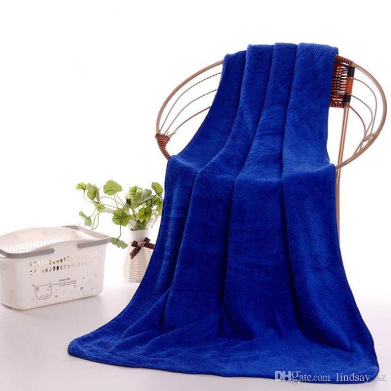 Superfine Microfiber Bath Towels Beach Drying Bath Washcloth Shower Towel Travel Big Towels For Adults Shower Tool 70x140cm
