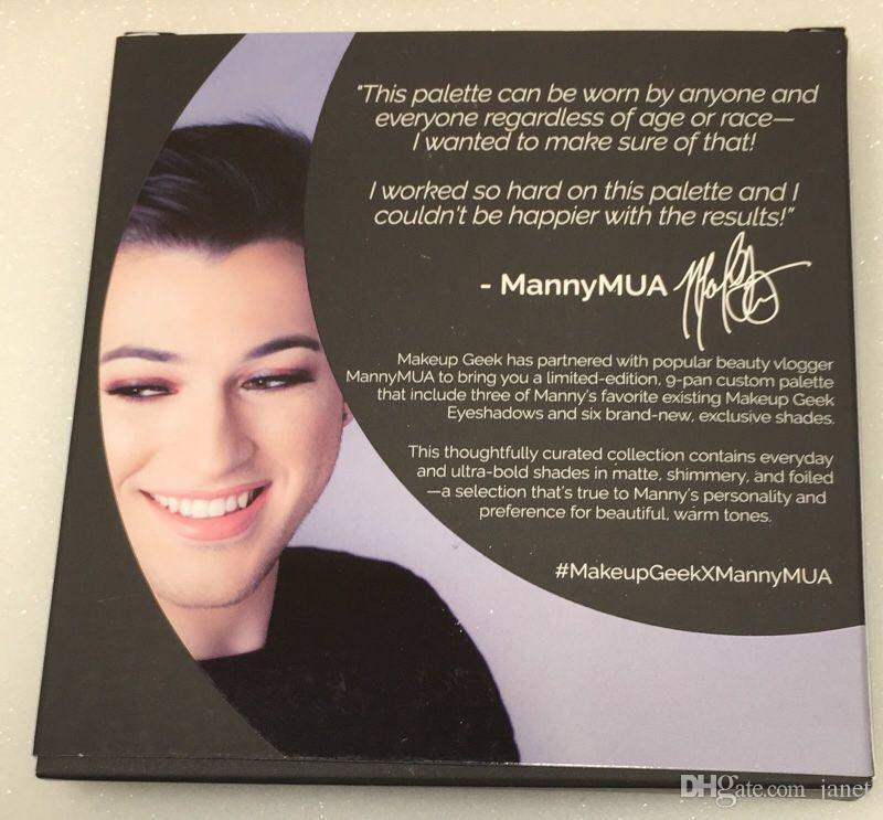 New Arrival Makeup Manny MUA Cosmetics Eyeshadow Manny MUA eyeshadow Pressed Powder Kit Palette from janet