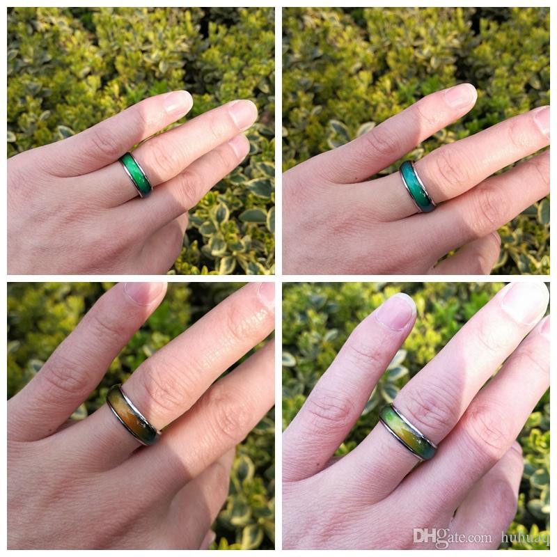 100 unids anillo de mujeres Vintage Creative Emotion Mood Ring Color que cambia los anillos de la personalidad para el regalo del partido de los hombres joyería al por mayor
