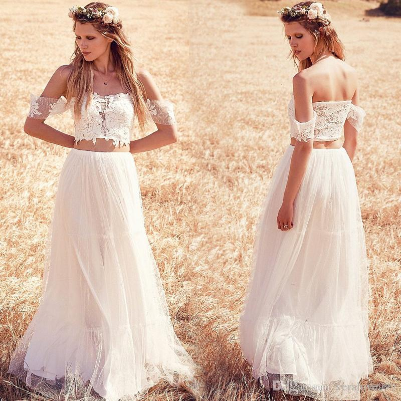 Discount Charming Two Pieces Bohemia Wedding Dresses Off The