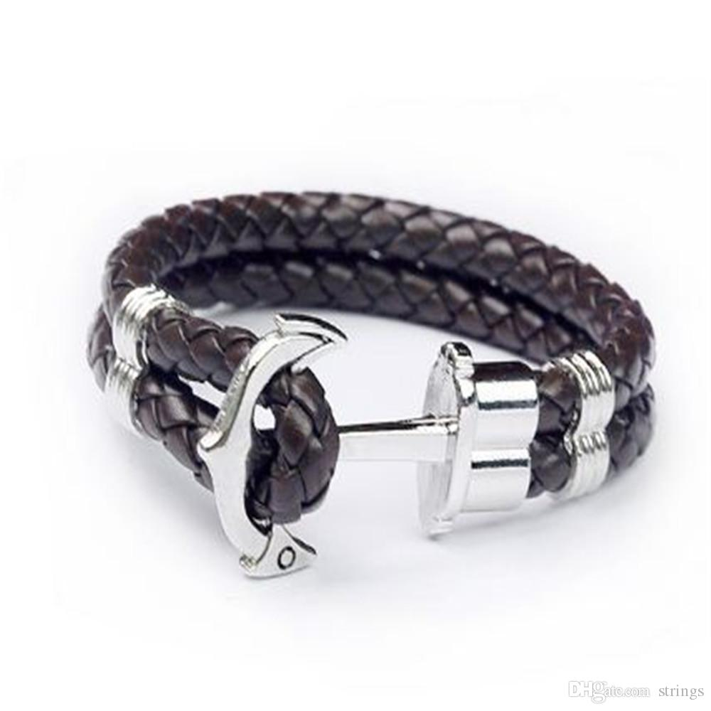 5739c11d4 Stylish Men'S PU Leather Leather Braided Cord Bracelets For Women Leather  Wrap Bracelet Pearl Wholesale Acc247 Charm Bracelets Nz Christmas Charm  Bracelet ...
