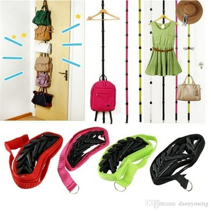 2018 New Novelty Straps Hanger Adjustable Over Door Hat Bag Clothes Rack  Holder Organizer 8 Hooks Best Deal From Dannymeng, $13.06 | Dhgate.Com