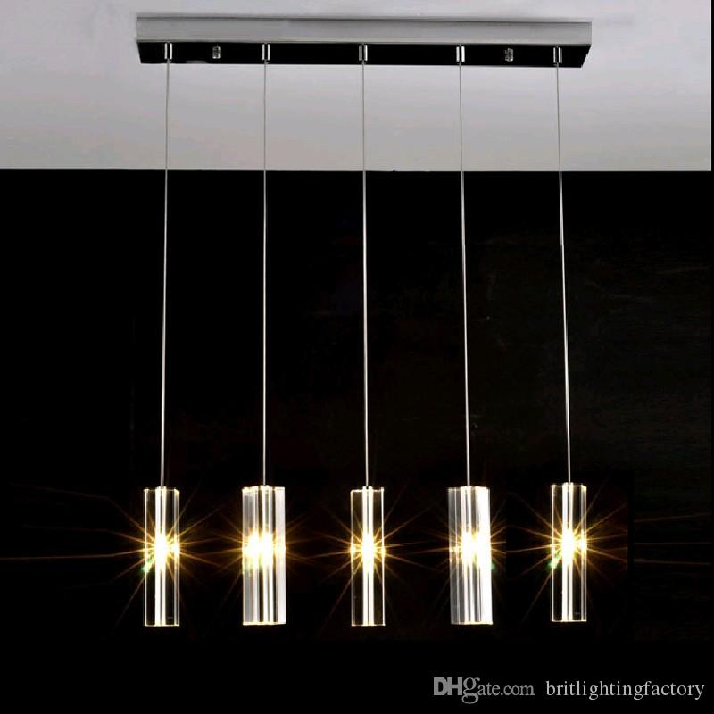 Discount Hanging Dining Room Lamp Led Pendant Lights Modern Kitchen Lamps Table Lighting For Dinning Clothing Store Crystal Light Flush