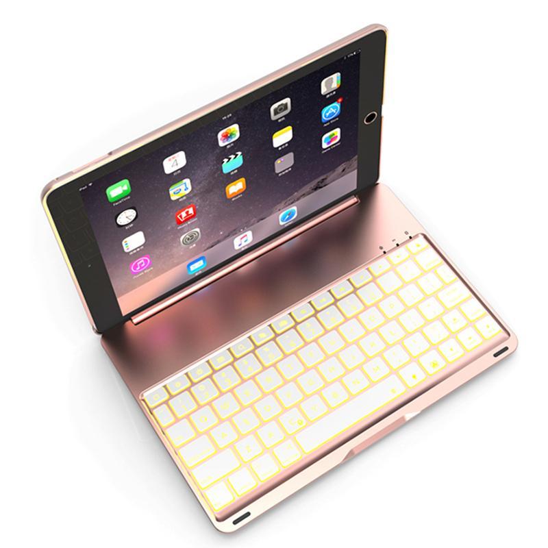 Para o novo ipad 9.7 air teclado sem fio led backlight teclado bluetooth com capa protetora para 2017 ipad mini air2 pro pcc056