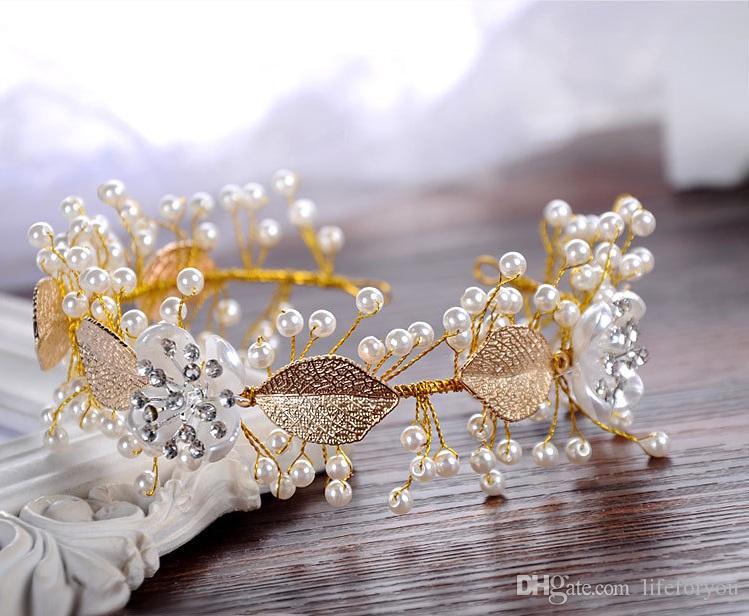 التيجان التيجان الزفاف اكسسوارات للشعر الزفاف رباطات الزفاف غطاء الرأس الزفاف للعروس اللباس غطاء الرأس إكسسوارات الزفاف الملحقات