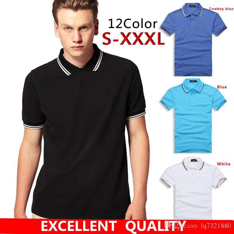 91f47e2c 2019 Mens Polo Shirt 2017 Summer Embroidery Style Short Sleeve Solid Color  Cotton POLO Shirts Men Plus Size Good Quality Polo Shirt From Lq7321880, ...