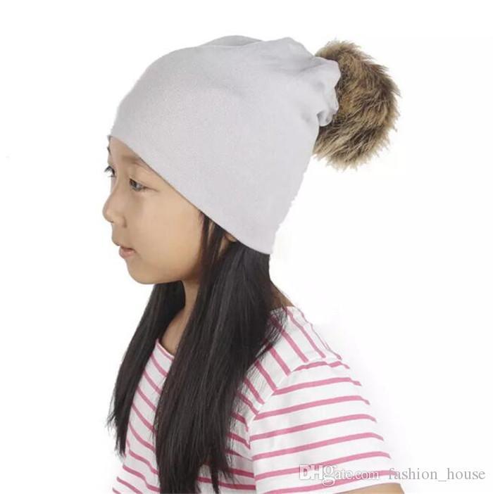 Baby-Herbst-Winter-Haar-Birnen-Hut-Kinderfeste strickende Kappen-modische Beanie-Jungen-Mädchen-warme Kappen A08