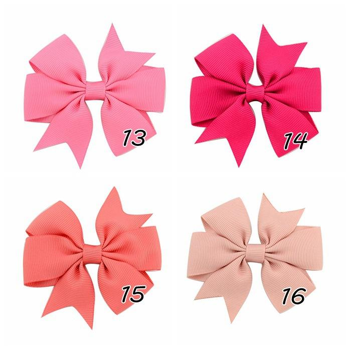 Everweekend 8*8 CM Baby Girls Bowknot Hair Clips Candy Color Bow Hairpins Western Hair Accessories With Alligator Clips