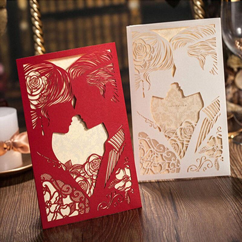 Wholesale new white red wedding invitation cards kit with wholesale new white red wedding invitation cards kit with envelopes hollow invitations blank inner page wedding party supplies card greeting card m4hsunfo
