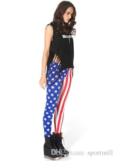 Brezilya bayrağı pantolon Renkli sıkı Serin kadın spor giyim Fransız spor giyim Spor eğitimi sportwear Egzersiz pantolon