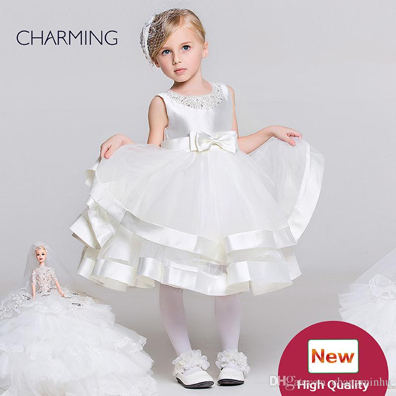 Dresses for toddlers White designer baby girl clothes Beautiful flower girl dresses Flower girl wedding Chinese wholesale suppliers