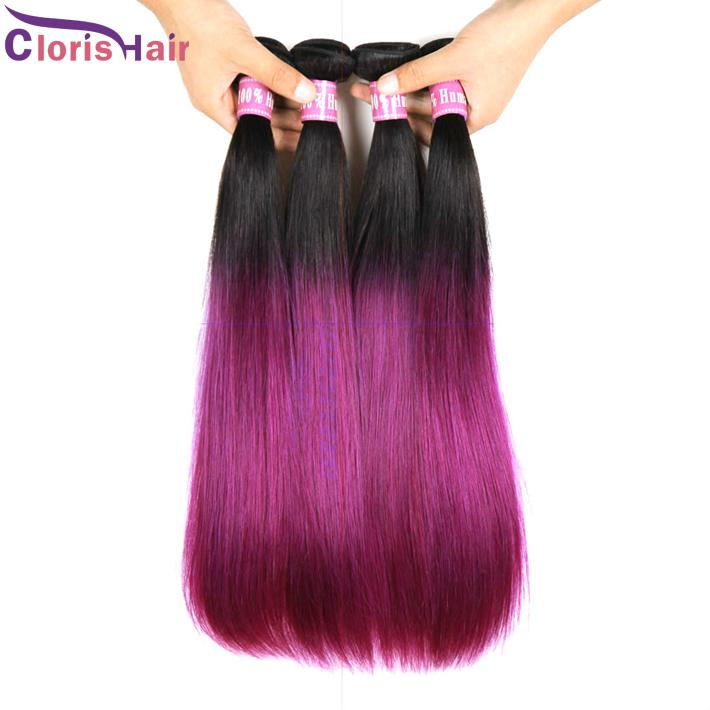 Cheap ombre hair extensions two tone colored brazilian purple cheap ombre hair extensions two tone colored brazilian purple weave silky straight 12 24 inch royal queen ombre human hair weft straight black hair weave pmusecretfo Gallery