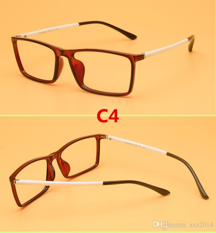 New Super-light tough and comfortable quality TR90 prescription glasses frame concise unisex eyeglasses cheap wholesale price TR8818