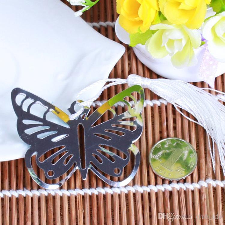 Hollow Butterfly Segnalibri Nappe in metallo Kawaii Cancelleria Pendente Regali Bomboniere DHL Fedex Spedizione gratuita