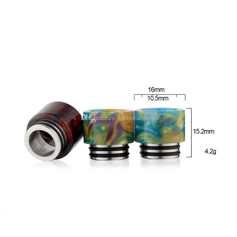 Yeni Sıcak Satış DHL Ücretsiz TFV8 Damla İpucu Epoksi Reçine Damla İpuçları için SMOK TFV8 Pretty desen reçine damla İpuçları 510 Ağızlık TFV8 Atomizer için