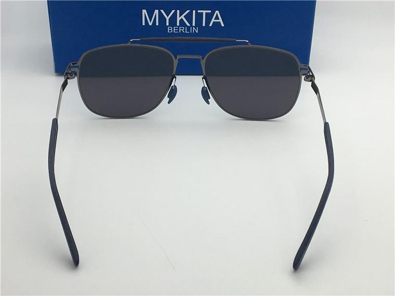 New mykita ELON sunglasses for man pilot frame with mirror ultralight frame Memory Alloy oversized sunglasses for women cool outdoor design