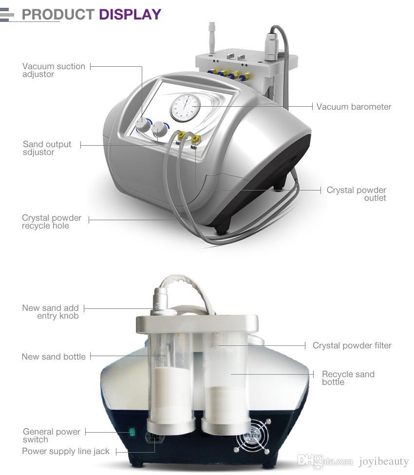 2 em 1 micro cristal dermoabrasão casca de cristal microdermoabrasão diamante peel microdermoabrasão máquina de rejuvenescimento da pele para salão spa uso