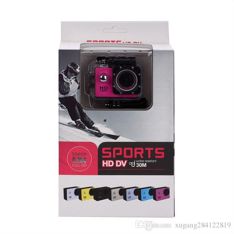 2x batterie mini caméscope go hero style pro 1080p Full HD DVR SJ4000 30M Action Camera étanche 2.0
