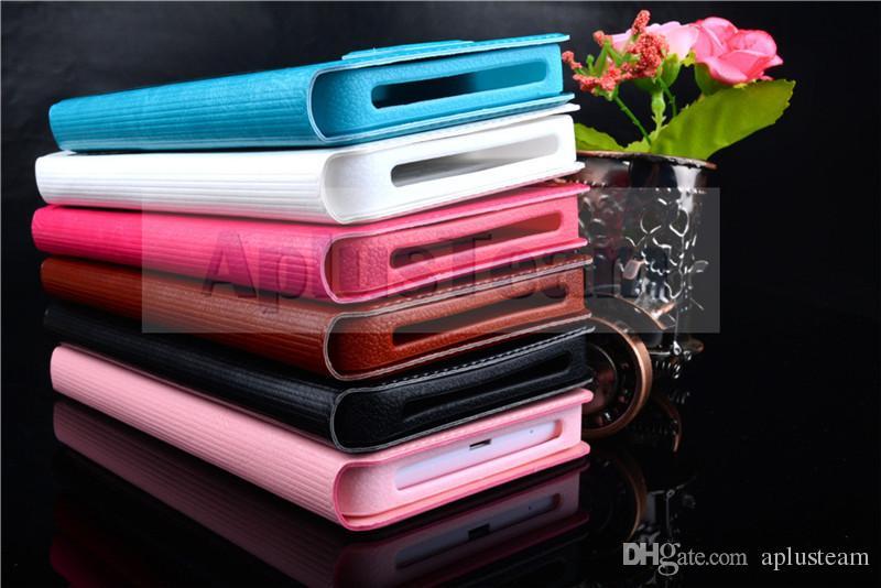 Univesal LuxuxFilp-Telefon-Rückseiten-Abdeckung mit Fenster-Ansicht PU-Leder-bunte Telefon-Haut-Kästen für Iphone Samsung Galaxie Huawei Xiaomi