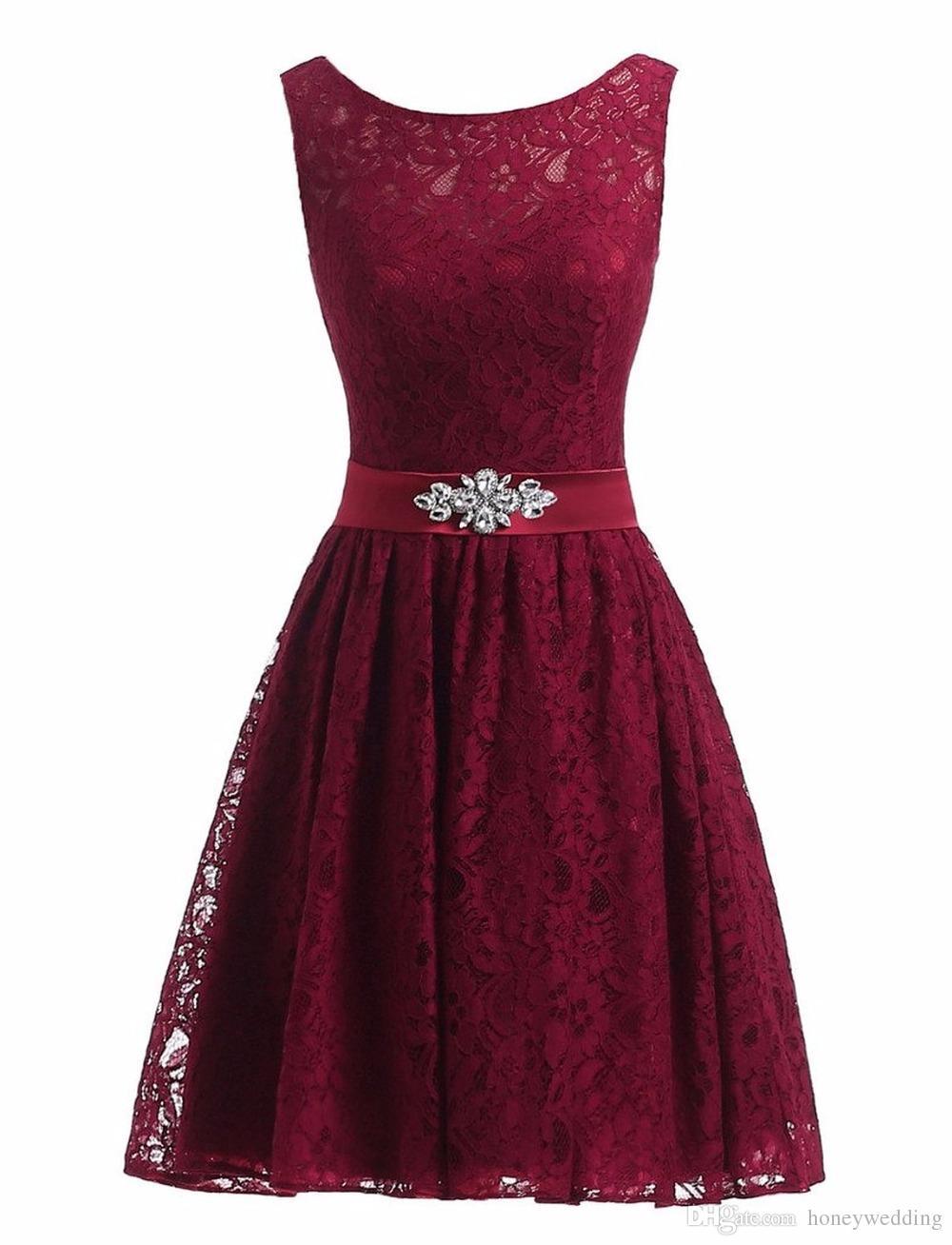 Großhandel 20% Real Photo Günstige Kurze Prom Kleider Spitze Kurze Kleine  Schwarz Weiß Rosa Royal Blue Red Lavendel Formale Cocktail Party Kleider