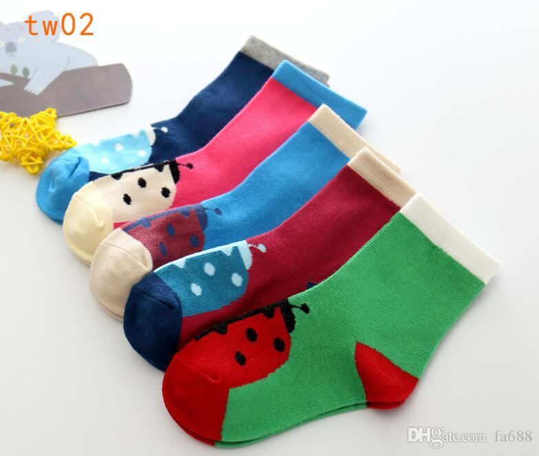10 Paar = / Babysocken Neonatal Sommer-Ineinander greifen Cotton Tupfen Ebene Streifen Kinder Mädchen Jungen Kinder Socken für 1-12 Jahre