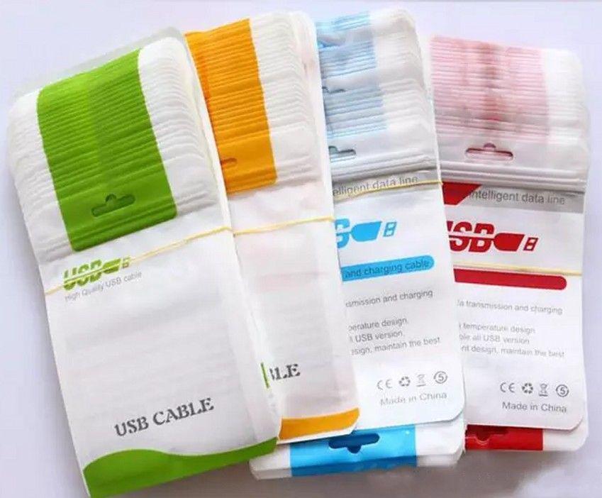 Boîtes de sac de paquet au détail de qualité pour le chargeur micro de données de données USB Sync Câble Audio écouteur iphone 6 6S plus 7 5 4 Samsung Galaxy S7 S6