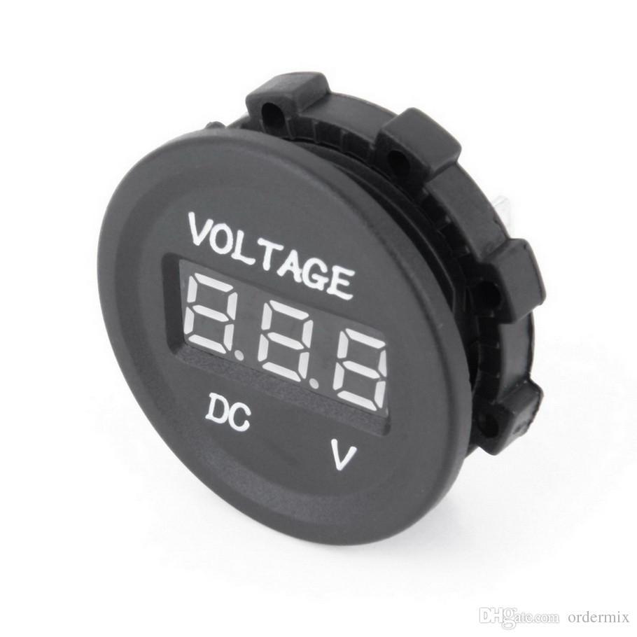 LED Display Car Digital Voltmeter Electric Voltage Meter Monitor Socket for Automobile Motorcycle Truck Minibus for ATV Boat