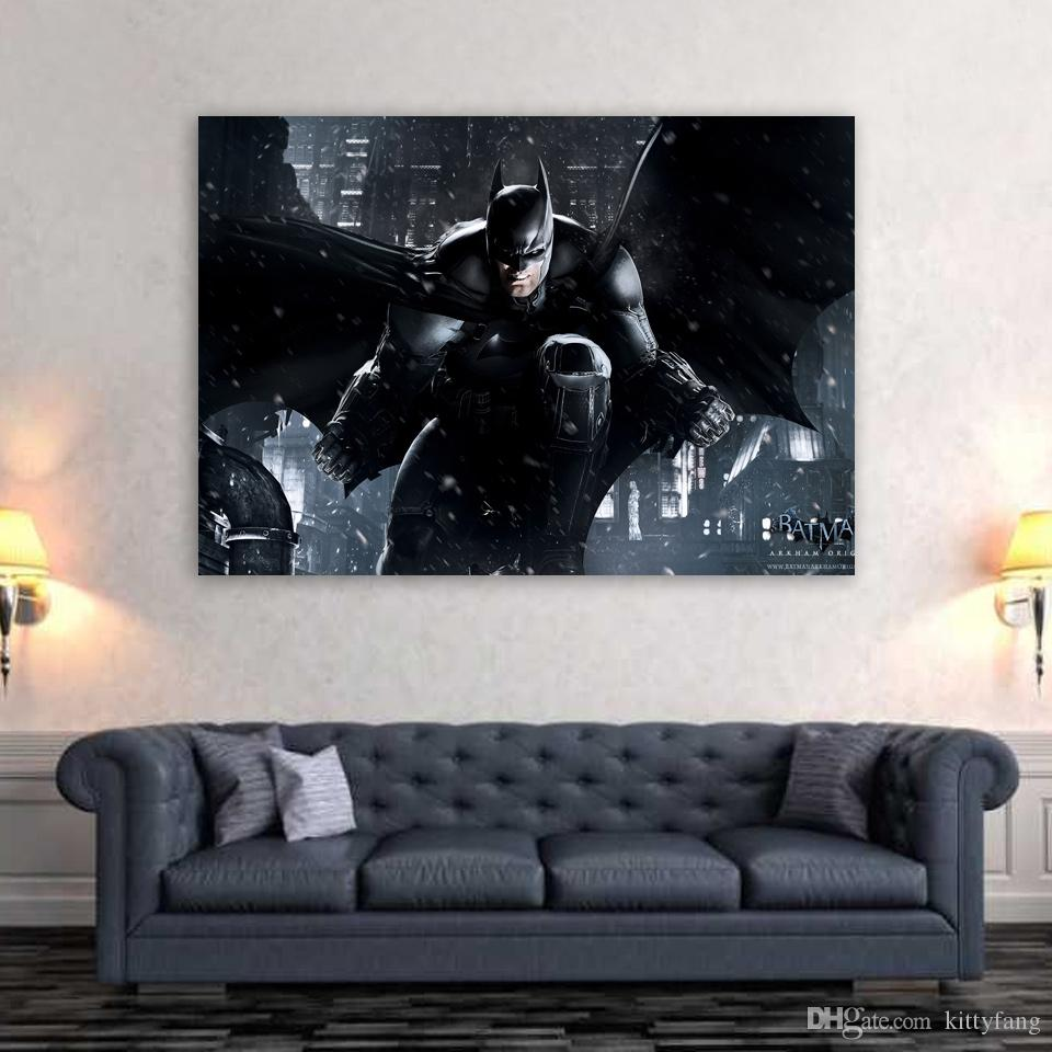 1 Piece Canvas Art Canvas Painting Batman Dark Knight HD Printed Wall Art Home Decor Poster Pictures for Living Room XA1470C