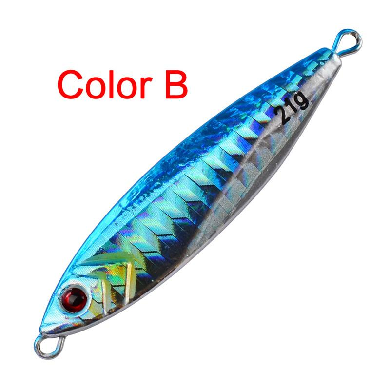 NEW Metal Jigs iron bait lifelike double-sided high reflective 3D eye 6.5cm 22g VIB Fishing Lures