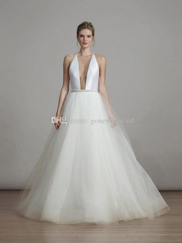 Großhandel Aber Moderne Ballkleid Brautkleider 2018 Liancarlo ...