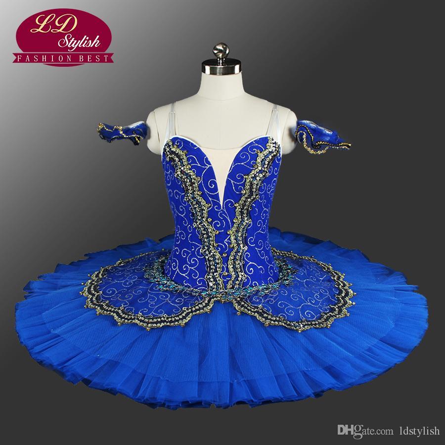 Adulte Noir Swan Classical Ballet Tutu Costume Rouge Ballet professionnel Tutu Black Ballet tutus for Performance LD8941