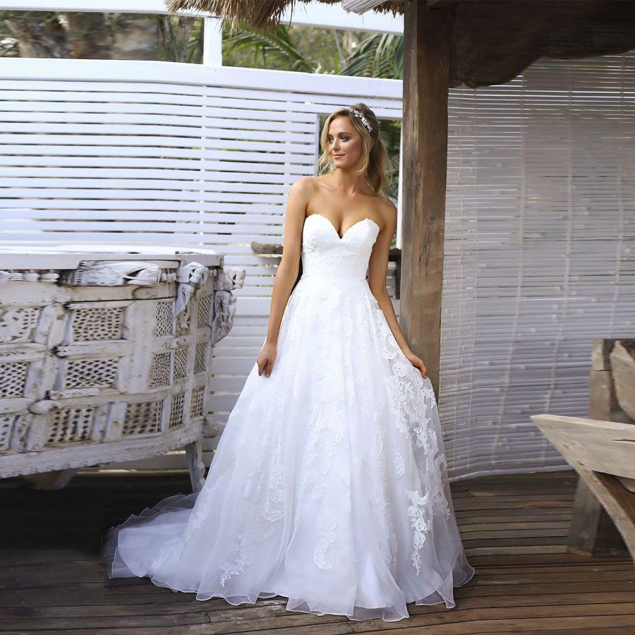 Berühmt Einfacher Weißer Brautkleid Galerie - Brautkleider Ideen ...