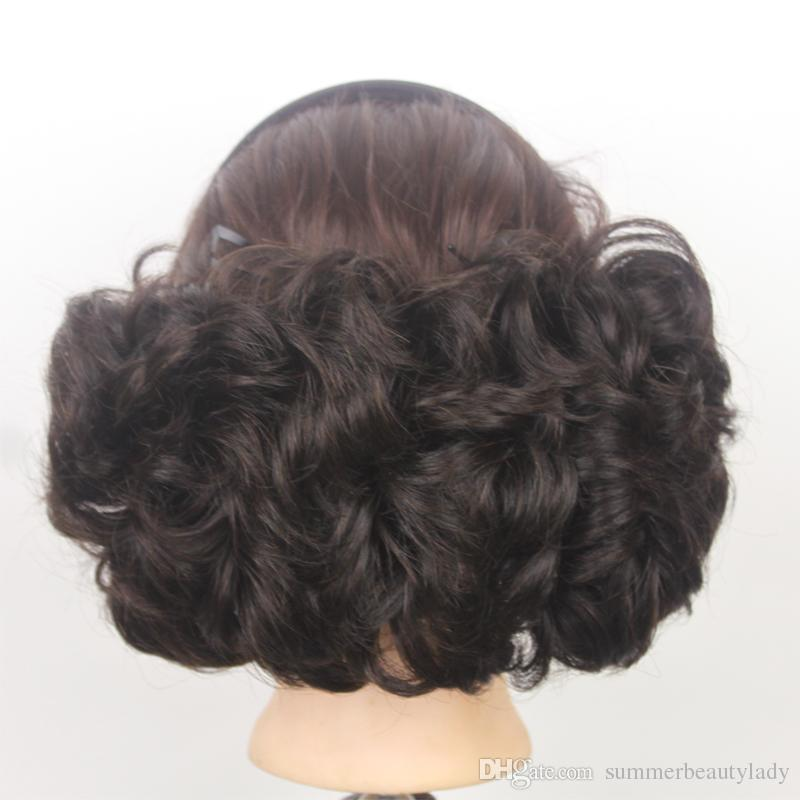 2017 Bun Cover Hairpiece Curly Big Buns Hair Style Chignon With Comb