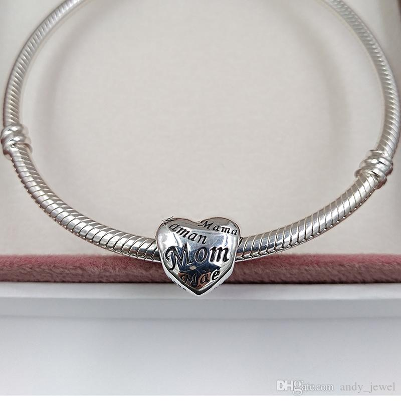 Mothers Day Gift 925 Sterling Silver Beads Mothers Of The World Charm Fits European Pandora Style Jewelry Bracelets & Necklace 791112