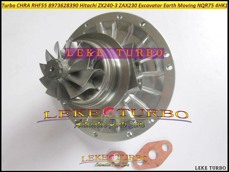 RHF55 8973628390 turbo Cartridge CHRA for Hitachi ZX240-3 ZAX240-3 ZAX230 Excavator ISUZU Earth Moving NQR75 4HK1 Turbocharger (6)