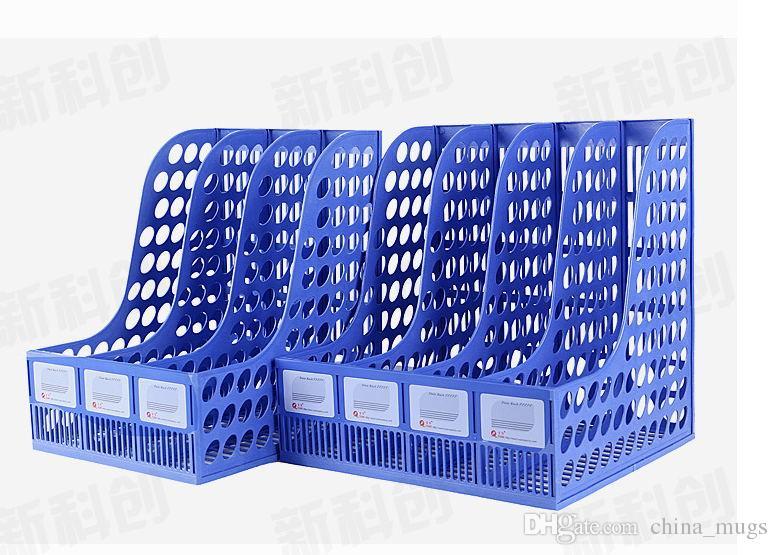 اللوازم المدرسية مكتب الجملة 3 قطعة ملف رف مجلة ورقة رف متعدد الوظائف تخزين الرف الأسرة مكتب البلاستيك مربع كتاب