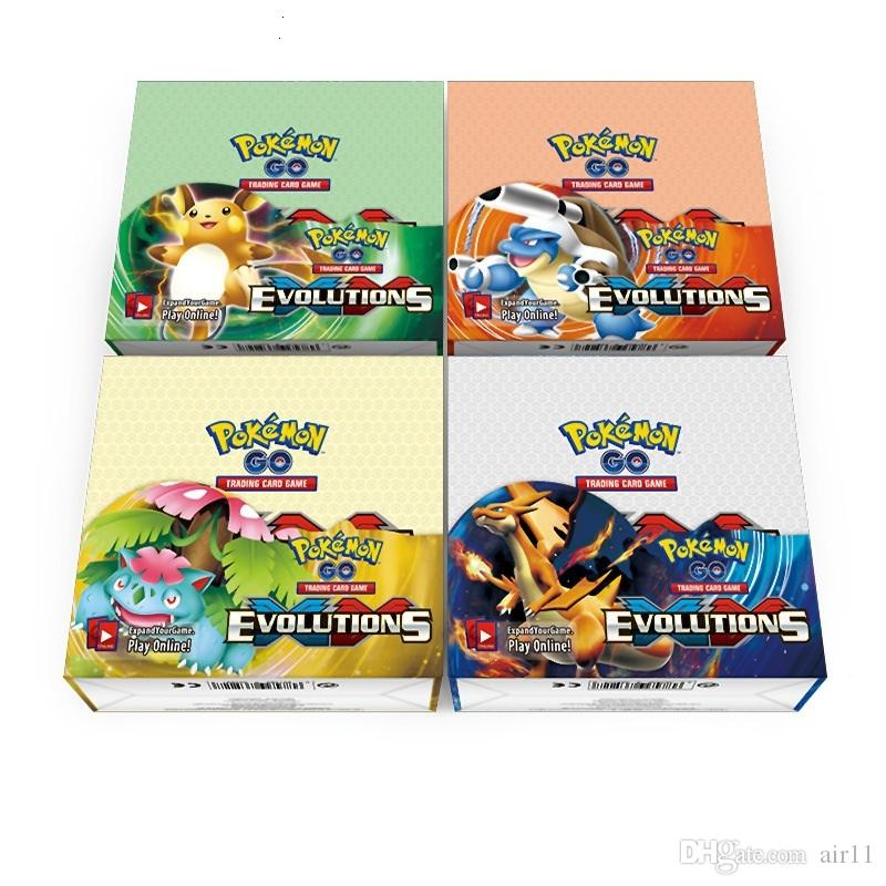 Poke Trading Cards Games English Edition Anime Cards Board game Cards 324pcs/lot Kids Toys 5 sets
