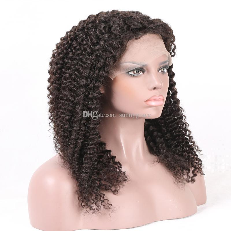 human hair kinky curly wigs for black women glueless lace front wigs indian curly glueless full lace wig african american wigs