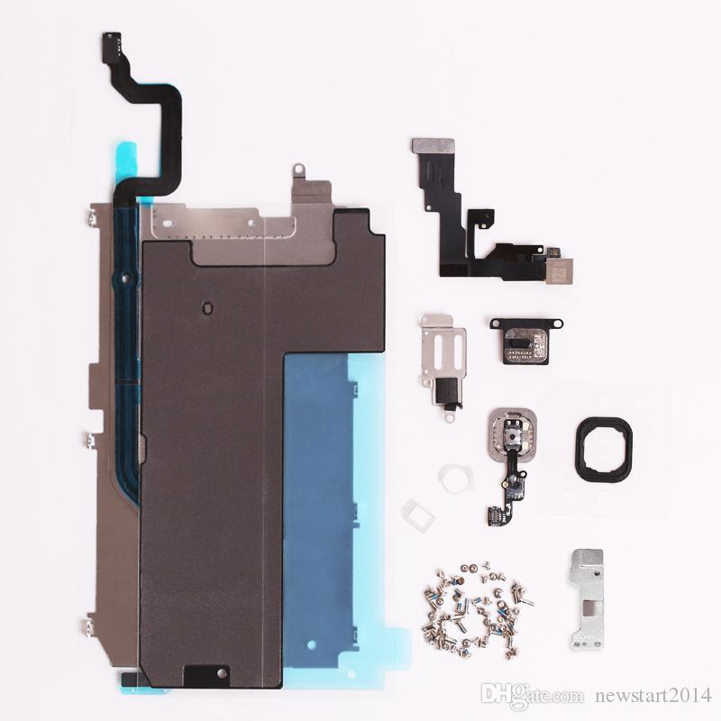 Free by DHL Or EMS For iphone 6 Full LCD Display Repair Parts Front Camera Earpiece Speaker Plate home button flex cable