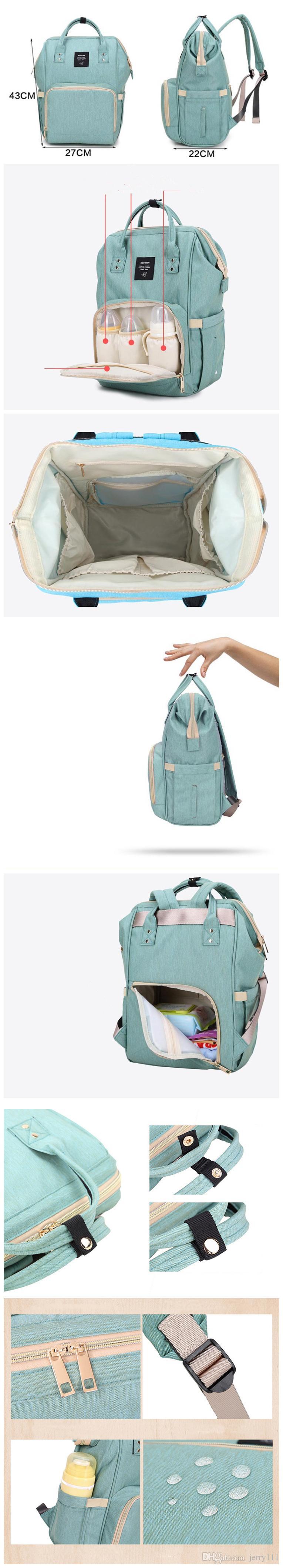 Multifunctional Baby Diaper Backpack Mommy Changing Bag Mummy Backpack Nappy Mother Maternity Backpacks LC637