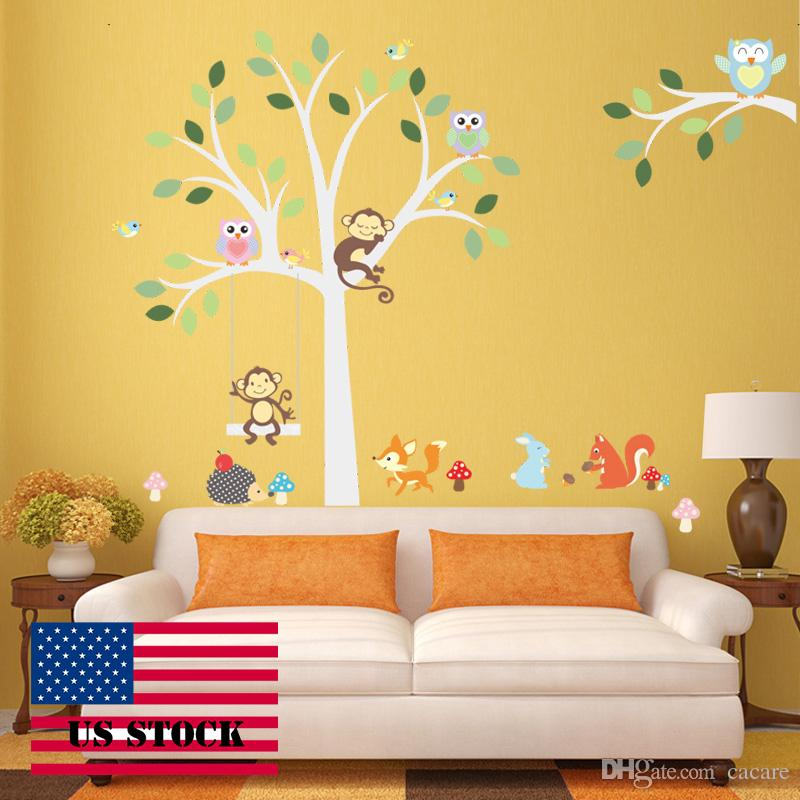 Wallstickers Diy Kids Wall Sticker Tree Vinyl Bird Wall Stickers Decal  Removable For Wall Home Decor H0008 Bird Wall Decals Bird Wall Stickers  From Cacare, ...